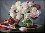 Hot Sale Peony Flowers Square Diamond 5d Diy Diamond Painting Kits VM9442