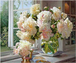 Hot Sale Peony Flowers Square Diamond 5d Diy Diamond Painting Kits VM9440