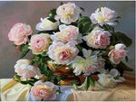 New Arrival Hot Sale Peony Flowers Picture 5d Diy Square Diamond Painting Kits VM9431
