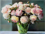 New Arrival Hot Sale Peony Flowers Picture 5d Diy Square Diamond Painting Kits VM9430