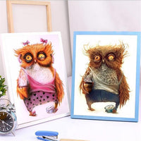 Funny Hot Sale Animals Owl Diy 5d Diamond Embroidery Painting Kits VM8906