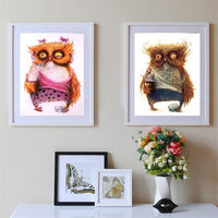 Funny Hot Sale Owl Diy 5d Diamond Embroidery Painting Kits VM8907