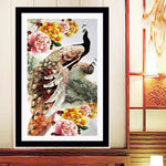 New Arrival Dream Peacock Peony 5d Diy Diamond Painting Kits VM96754