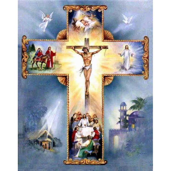 5D DIY Diamond Painting Christian Cross Jesus Christ VM4181