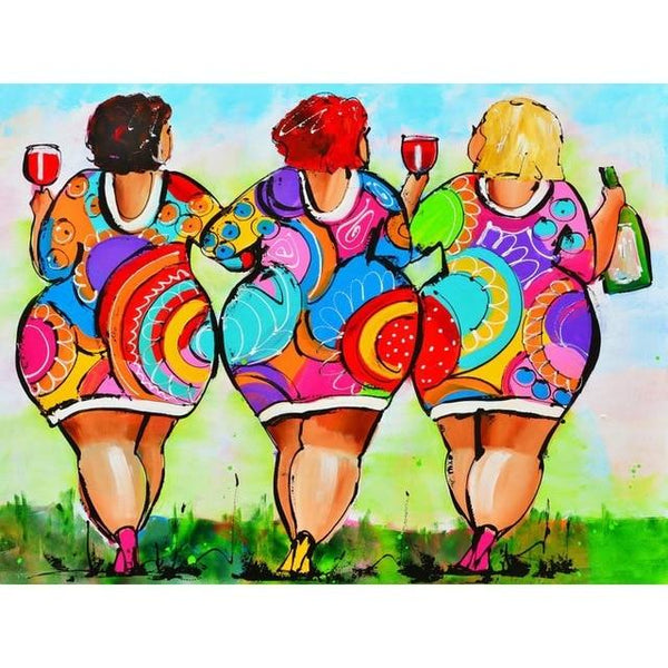 5D DIY Diamond Painting Kits Embroidery Art Cross Stitch Fat Women VM90723