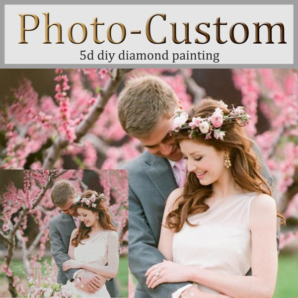 5D DIY Diamond Painting Wedding Photo Custom VM1044 (1766933168218)