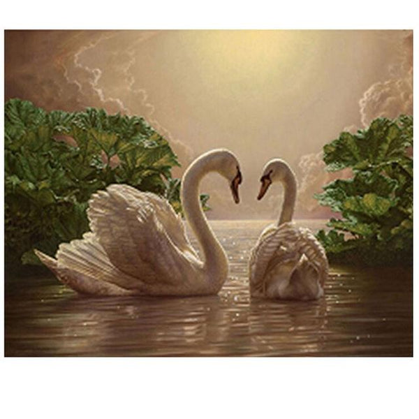 2019 5d Diy Diamond Painting Kits Elegant White Swans Lover  VM3029 (1766983794778)