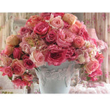 2019 5d Diy Diamond Painting Kits Red And Pink Flowers VM3023 (1766982778970)