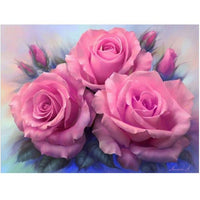 2019 5d Diy Diamond Painting Flowers Kits Pink Flowers VM3021 (1766982975578)