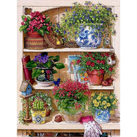 5D DIY Diamond Painting Kits Flower Rack VM92108