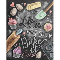 5D DIY Diamond Painting Kits Kitchen Cake Black Board VM92018