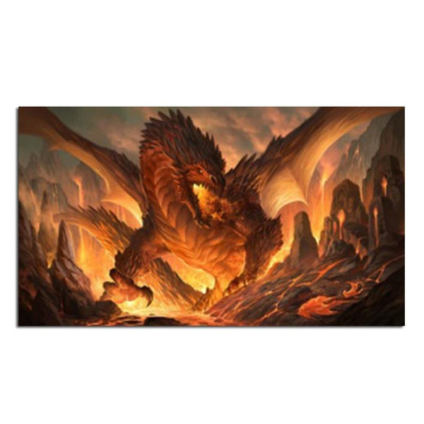 5D DIY Diamond Painting Kits Embroidery Cross Stitch Flying Dragon VM90906
