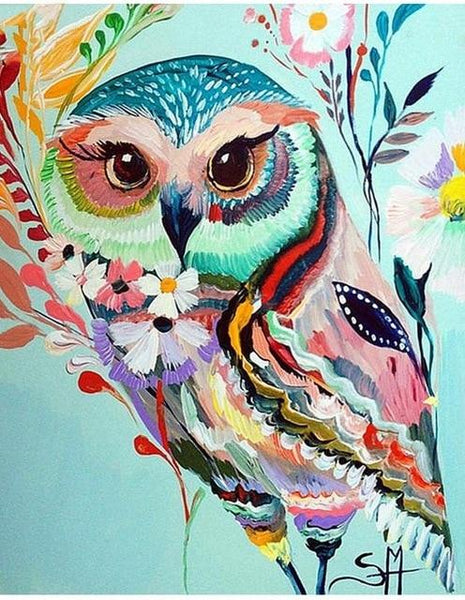 5D DIY Diamond Painting Cross Stitch Mosaic Kits Animal Owl VM90502