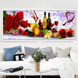 Large Size 2019 New Colorful Wine Rose 5d Diy Diamond Painting Kits VM1199 (1766944997466)