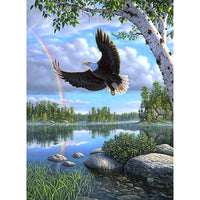 5D DIY Diamond Painting Kits Embroidery Art Cross Stitch Animals Eagle VM92091