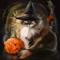 2019 5D Diy Diamond Painting Kits Halloween Cat VM90188