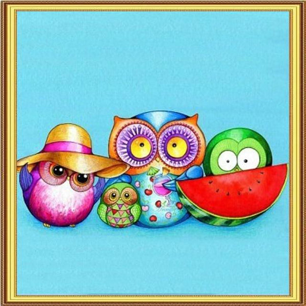 2019 5D DIY Diamond Painting Kits Cartoon Owl VM90753