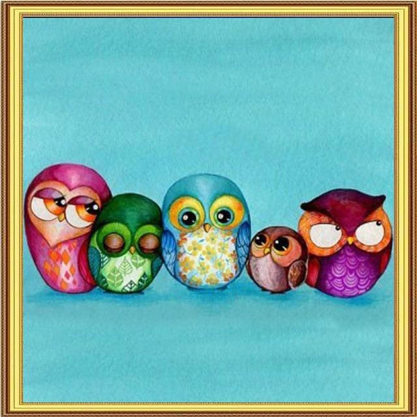 2019 5D DIY Diamond Painting Kits Embroidery Arts Cartoon Owl VM90743