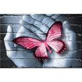 5d Diy Diamond Painting Kits Special Dream Red Butterfly In Hand VM1025 (1766931365978)