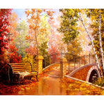 2019 5d Diy Diamond Painting Kits Forest Bridge Landscape VM8140
