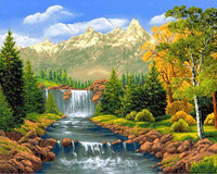 2019 5d Diy Diamond Painting Kits Landscape Waterfalls Mountain VM4159 (1767043039322)