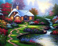 2019 5d Diy Diamond Painting Kits Landscape Cottage VM4164 (1767044251738)
