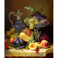 2019 5d Resin Diamond Painting Fruit And Wine VM8608