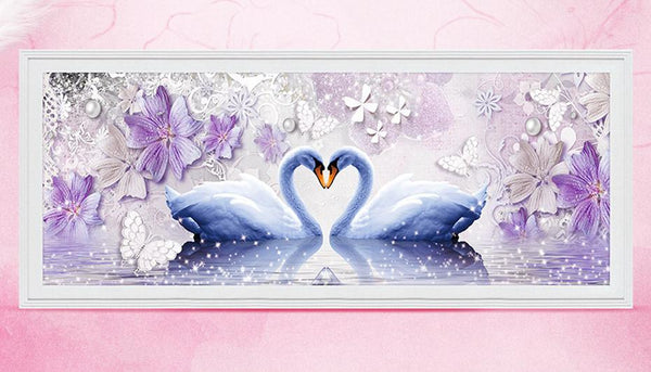 Hot Sale Dream Love Swan Diamond 5d Diy Diamond Painting Kits VM9081