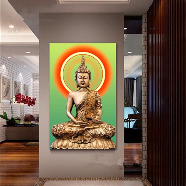 New Arrival Hot Sale Buddha Portrait 5d Diy Full Square Diamond Painting Kits VM09409
