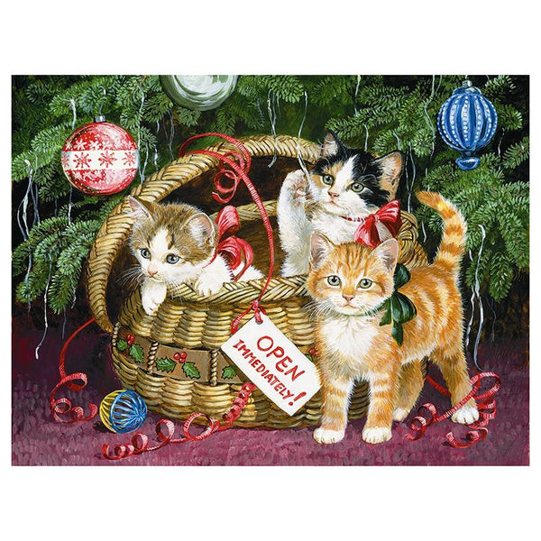 5D Diy Diamond Painting Kits Cross Stitch Christmas Cat VM90797