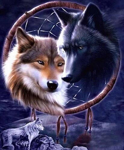 2019 5d Diy Painting Kits Dream Catcher Wolf VM8152