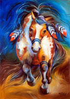 2019 5d Diamond Painting Kits Oil Painting Style Colorful Horse VM1047 (1766933528666)