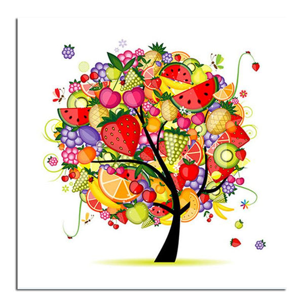 2019 5D Diy Diamond Painting Kits Mosaic Cartoon Fruit Tree VM88729