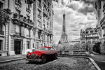 2019 5D DIY Diamond Painting Red Car Street Eiffel Tower VM3321 (1766990610522)