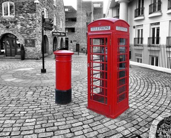 2019 5d Diy Diamond Painting  Street Red Telephone Booth  VM3314 (1766988841050)