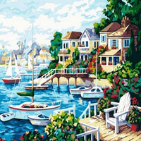 2019 5d Diy Diamond Painting Kits Town  VM59121
