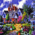 2019 5d Diy Diamond Painting Kits Cottage Villa Picture VM09119