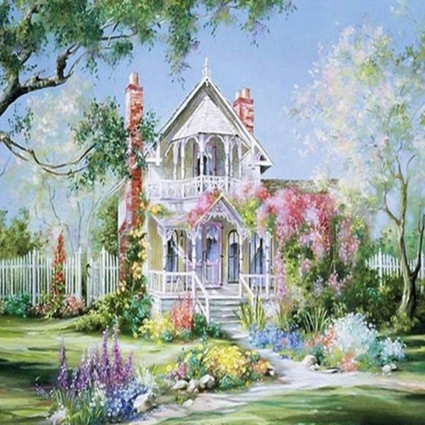 2019 5d Diy Diamond Painting Kits Cottage Picture VM09117