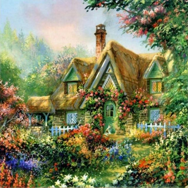 2019 5d Diy Diamond Painting Kits Oil Painting Style Cottage Villa VM9121