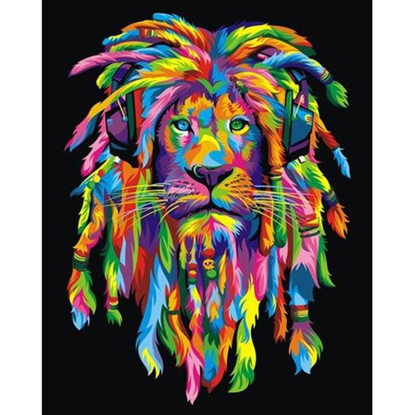 2019 5D DIY Diamond Painting Kits Special Rhinestone Lion VM6030