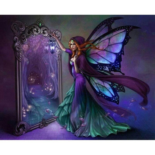5D DIY Diamond Painting Kits Mosaic Cross Stitch Magic Wings Girl VM92181