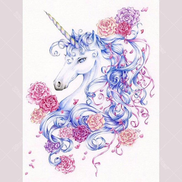5D Diy Diamond Painting Kits  Special Flowers Unicorn VM92329