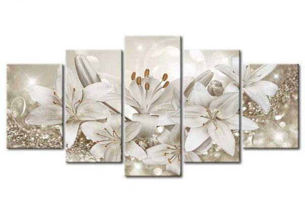2019 5d Diy Diamond Painting Kits White Flower VM7921