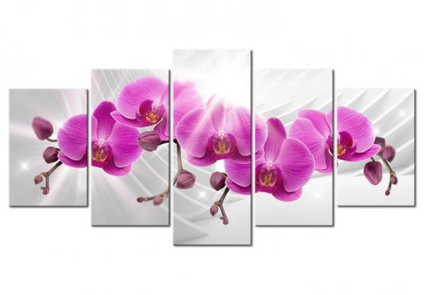 2019 5d Diy Diamond Painting Kits Violet Flower VM7912