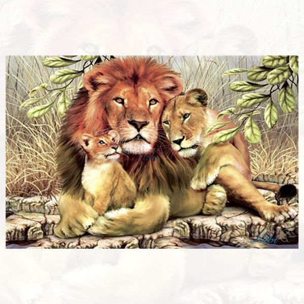 2019 5d Diy Diamond Painting Kits Family Lions VM7791