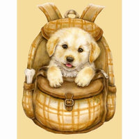 2019 5D Diy Diamond Painting Kits  Dog In Bag VM09050