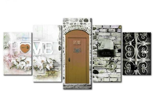 5pcs Door Sweet Home Hot Sale Large Multi Panel 5d Diy Diamond Painting Kits VM9793