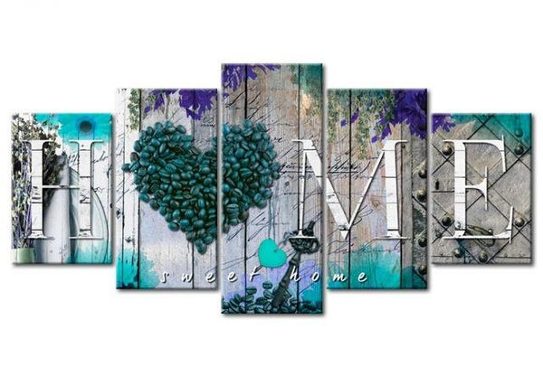 5pcs Sweet Home Heart 2019 Hot Multi Panel 5d Diy Diamond Painting Kits VM9786