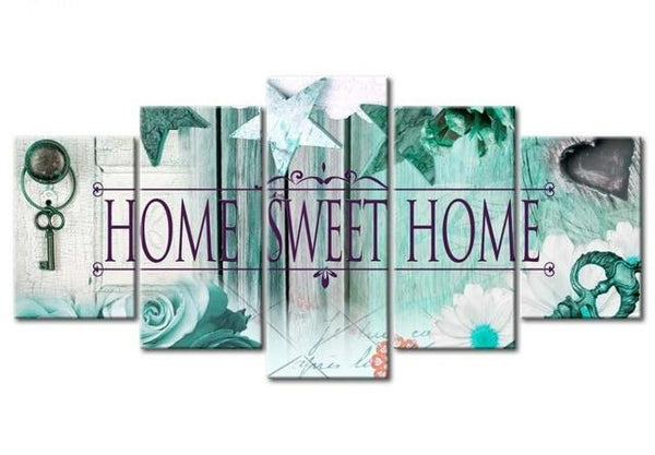 5pcs Large Size Hot Sale Sweet Home Multi Picture 5d Diy Diamond Painting Kits VM9784