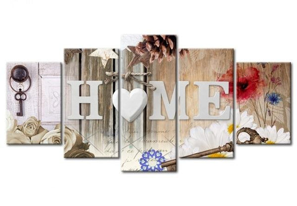 5pcs Large Size Hot Sale Sweet Home Multi Picture 5d Diy Diamond Painting Kits VM9783